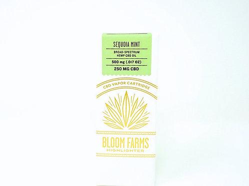 Bloom Farms 250mg Broad Spectrum Vape Cartridge Sequoia Mint
