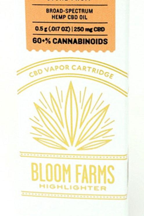 Bloom Farms 250mg Broad Spectrum Vape Cartridge Stone Fruit
