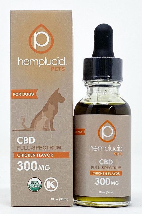 Hemplucid Pet 300mg Full Spectrum Oil Chicken