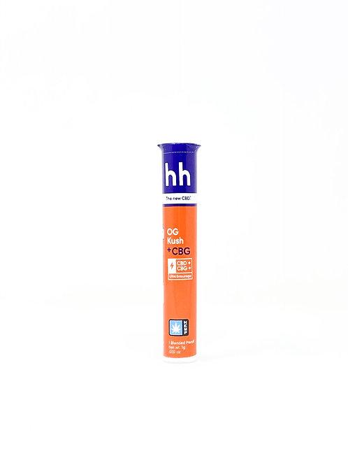 HHemp 1g CBG:CBD Full Spectrum Pre-Roll OG Kush