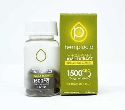 Hemplucid 1,500mg Full Spectrum Capsules