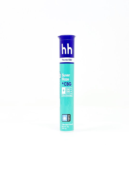 HHemp 1g CBG:CBD Full Spectrum Pre-Roll Suver Haze