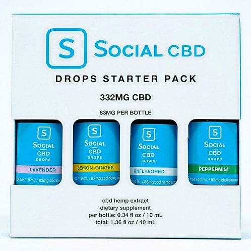 Social CBD 83mg/Starter 4pk Isolate Oils