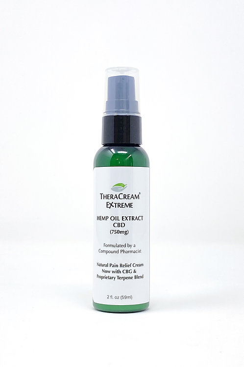 TheraCream Extreme 750mg/2oz Broad Spectrum Lotion Peppermint