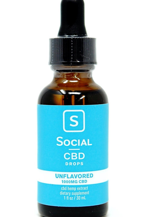 Social CBD 1000mg Isolate Oil Unflavored