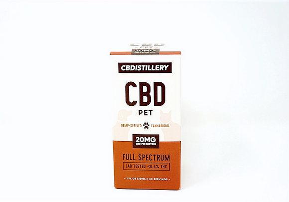 CBDistillery 600mg Full Spectrum Pet Oil