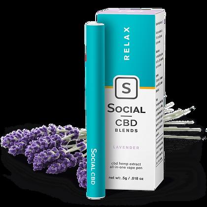 Social 'Relax Lavender' 250mg Vape Pen