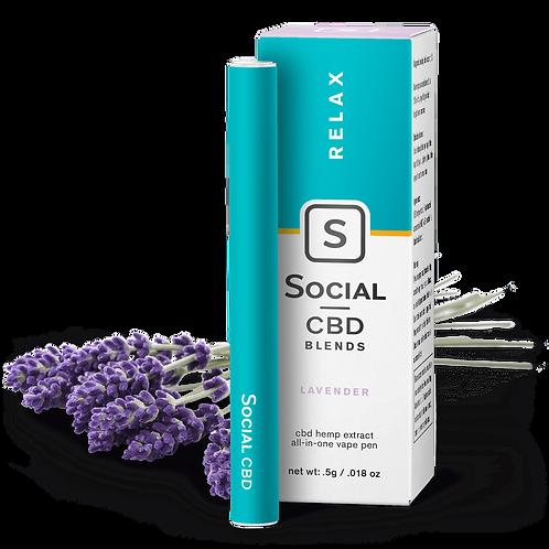 Social CBD 250mg Isolate Disposable Vape Pen Relax Lavender