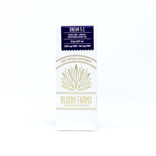 Bloom Farms 5CBD:1CBN Vape Cartridge Dream
