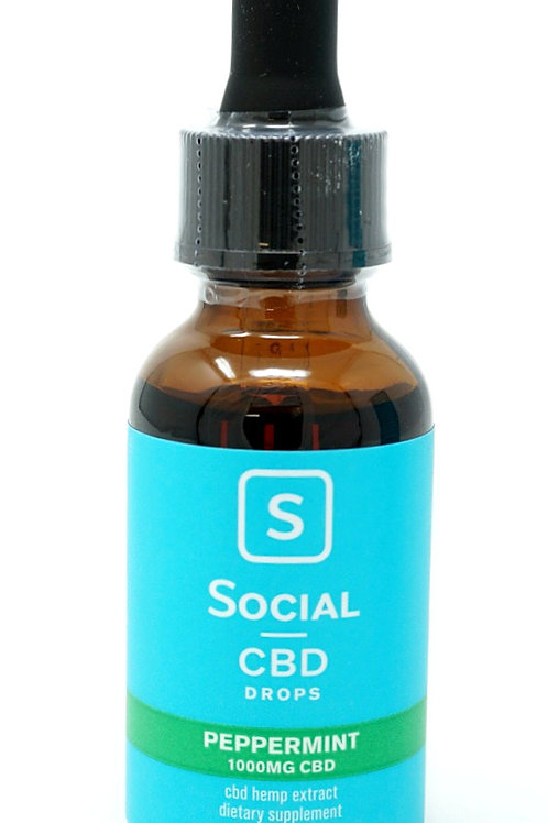 Social CBD 1000mg Isolate Oil Peppermint