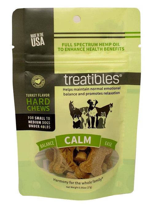 Treatibles Pet 4mg/7ct Full Spectrum Hard Chews Calm Turkey