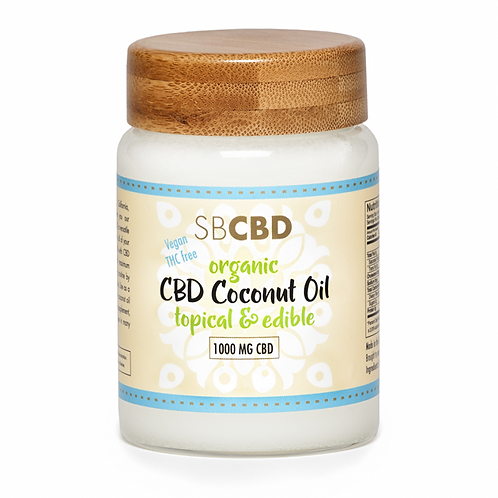 SB CBD 1000mg Oil Organic Coconut