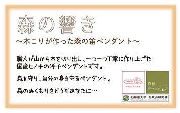 森の響き~木こりがつくった木の笛ペンダント~POP (1).jpg