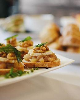 Pear & Brie Crostini Canape