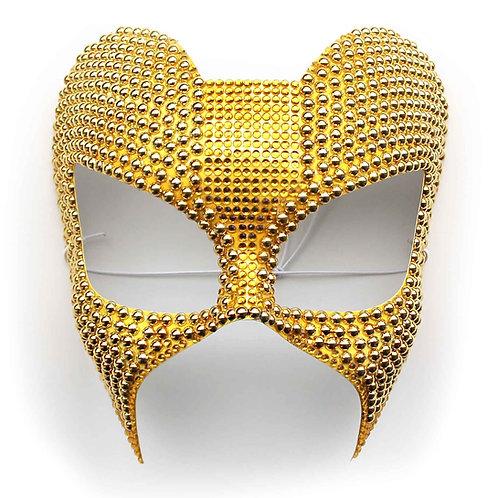 Maschera elegante gioiello oro