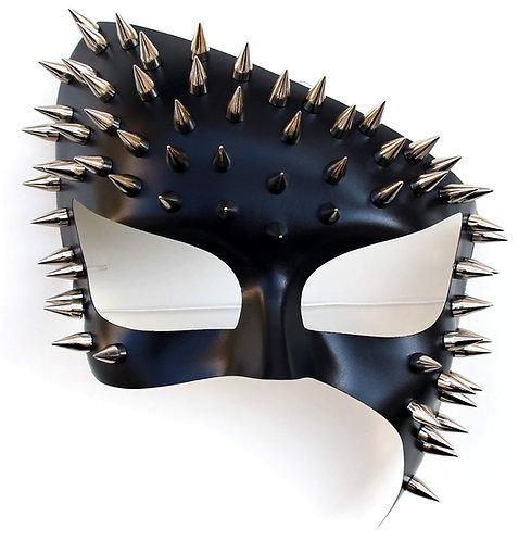 Maschera BDSM punte di metallo
