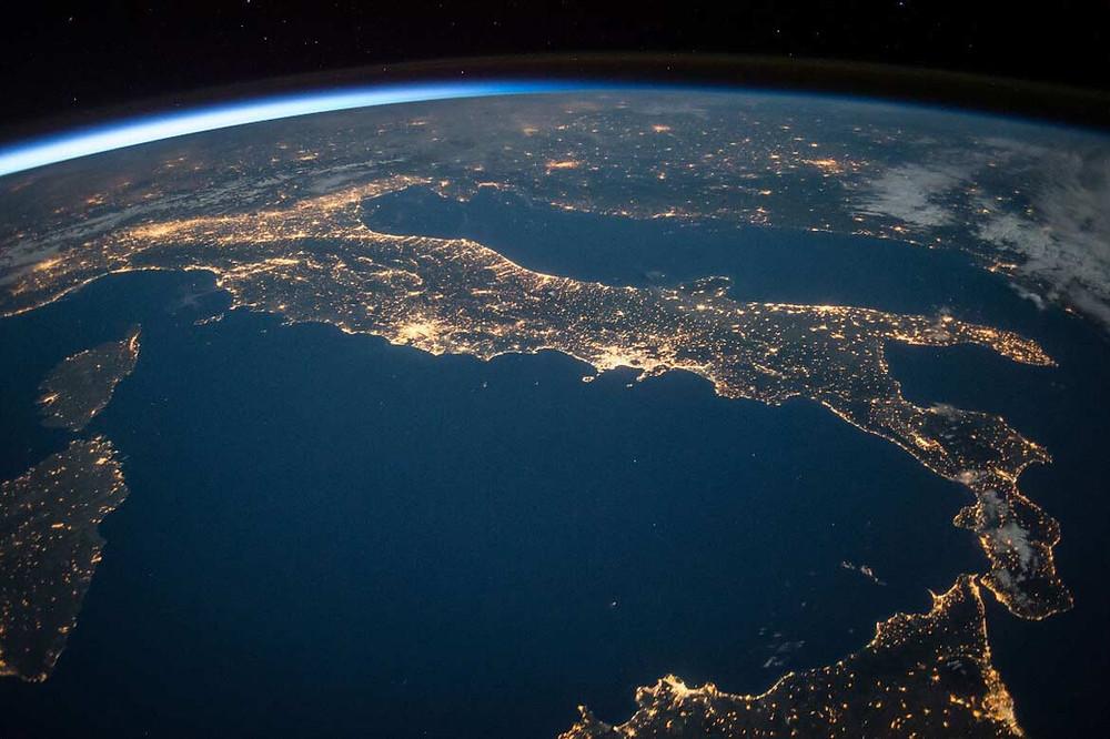 italia vista dall'alto