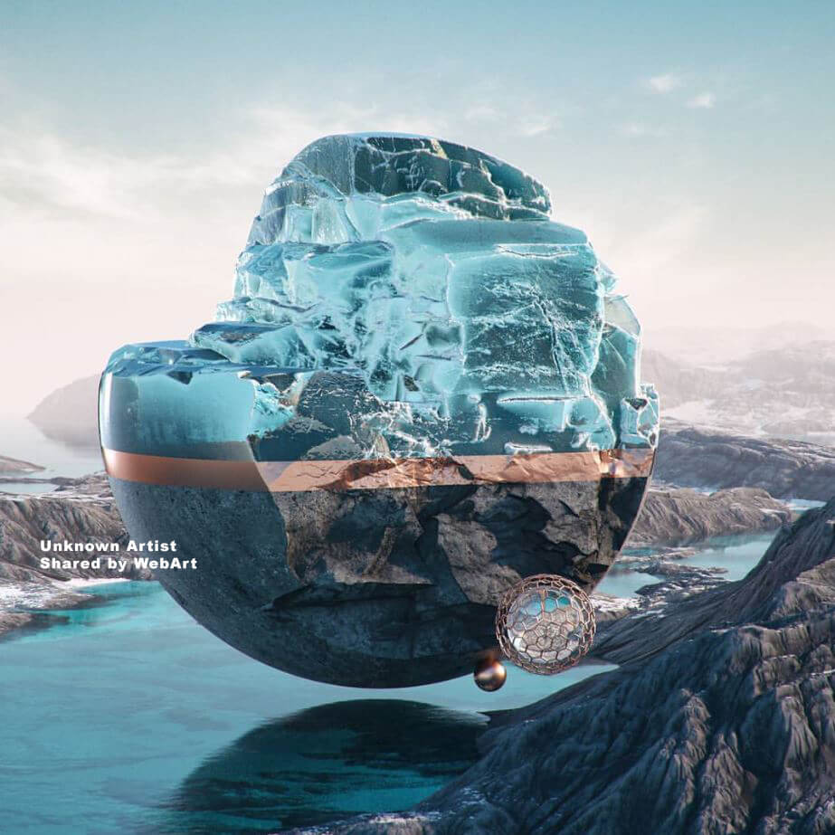 virtual landscape, digital art