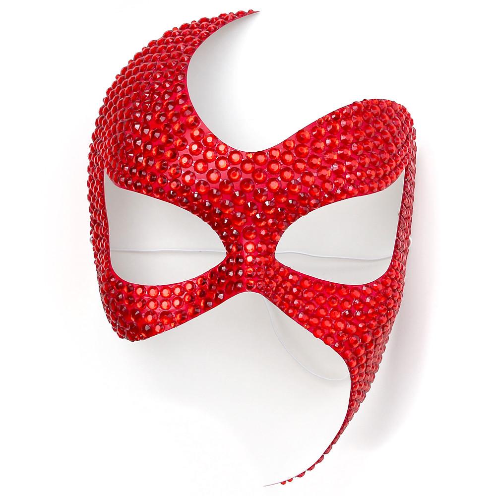 maschera fetish rossa, maschera gioiello, maschera carnevale, maschera sexy