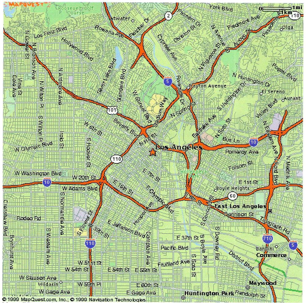 planimetria Los Angeles