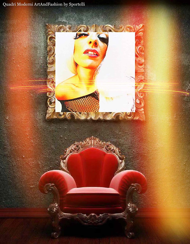 quadro-moderno-donna-su-poltrona-rossa_ArtAndFashionbySportelli