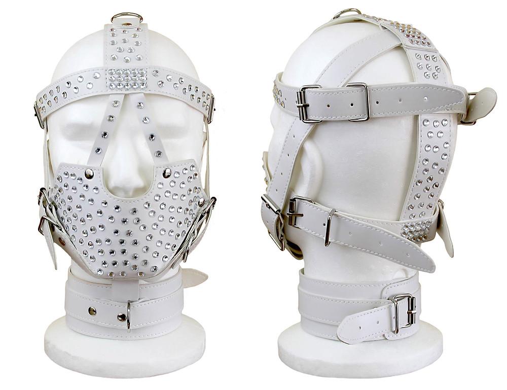 Bondage Mask White ArtAndFashion by Antonella Sportelli