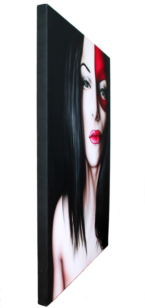Quadri moderni volto di donna con maschera quadri - Quadri a specchio moderni ...