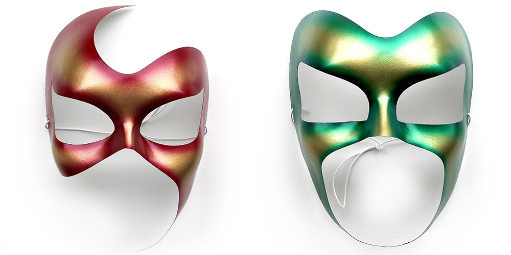 Maschere artistiche metallizzate ArtAndFashion by Sportelli