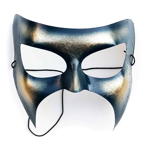 Maschera di carnevale blu con foglia oro ArtAndFashionBySportelli
