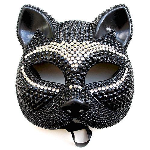Maschera gattina sexy con strass diamond bicolore