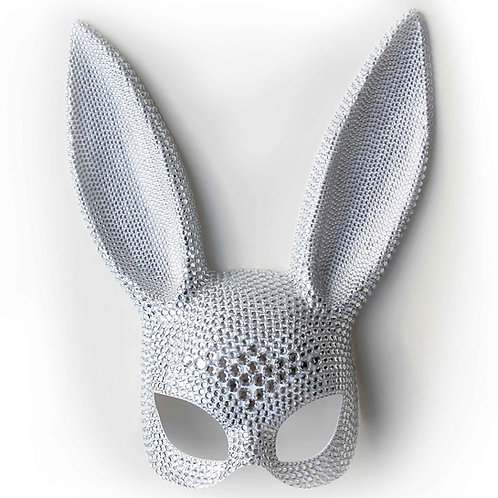 Maschera coniglietta sexy con strass diamond