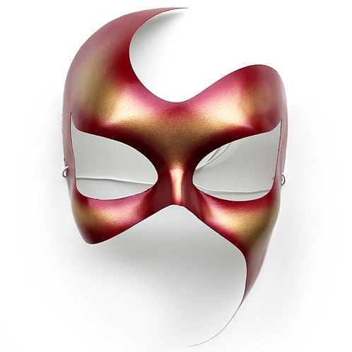 Maschera elegante metallizzata carminio