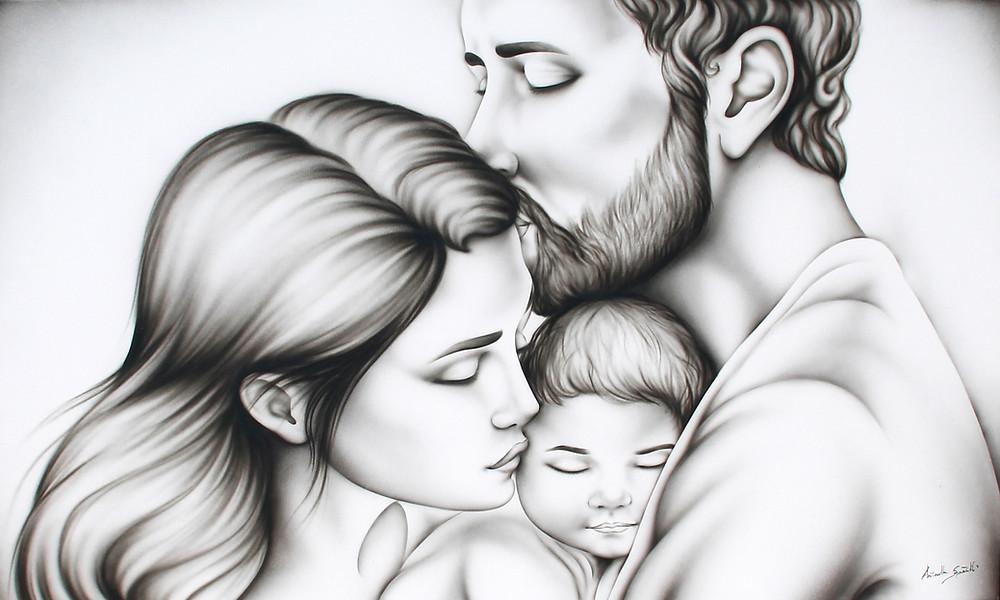 quadro sacra famiglia tortora