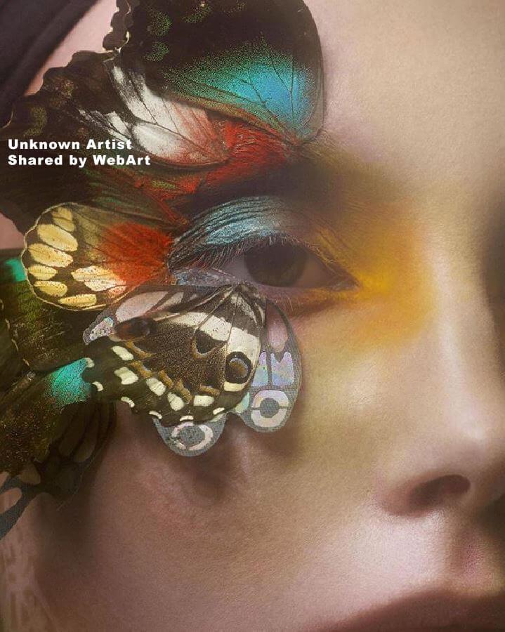 eye butterfly, digital art