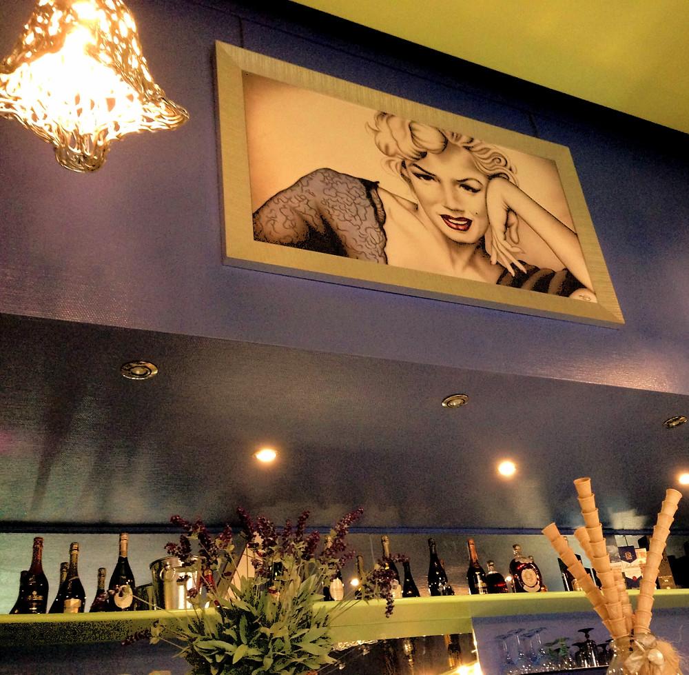 quadro moderno Marilyn Monroe per arredare un bar