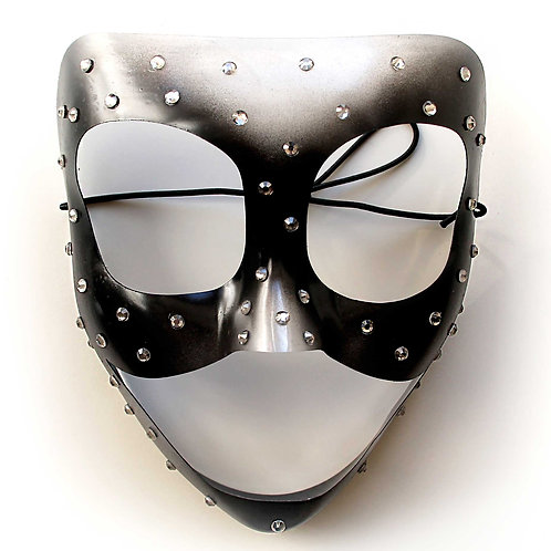 Maschera elegante trasparente con strass