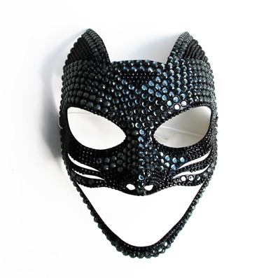 maschera a gatto, maschera gattina sexy, maschera gioiello, maschera fetish