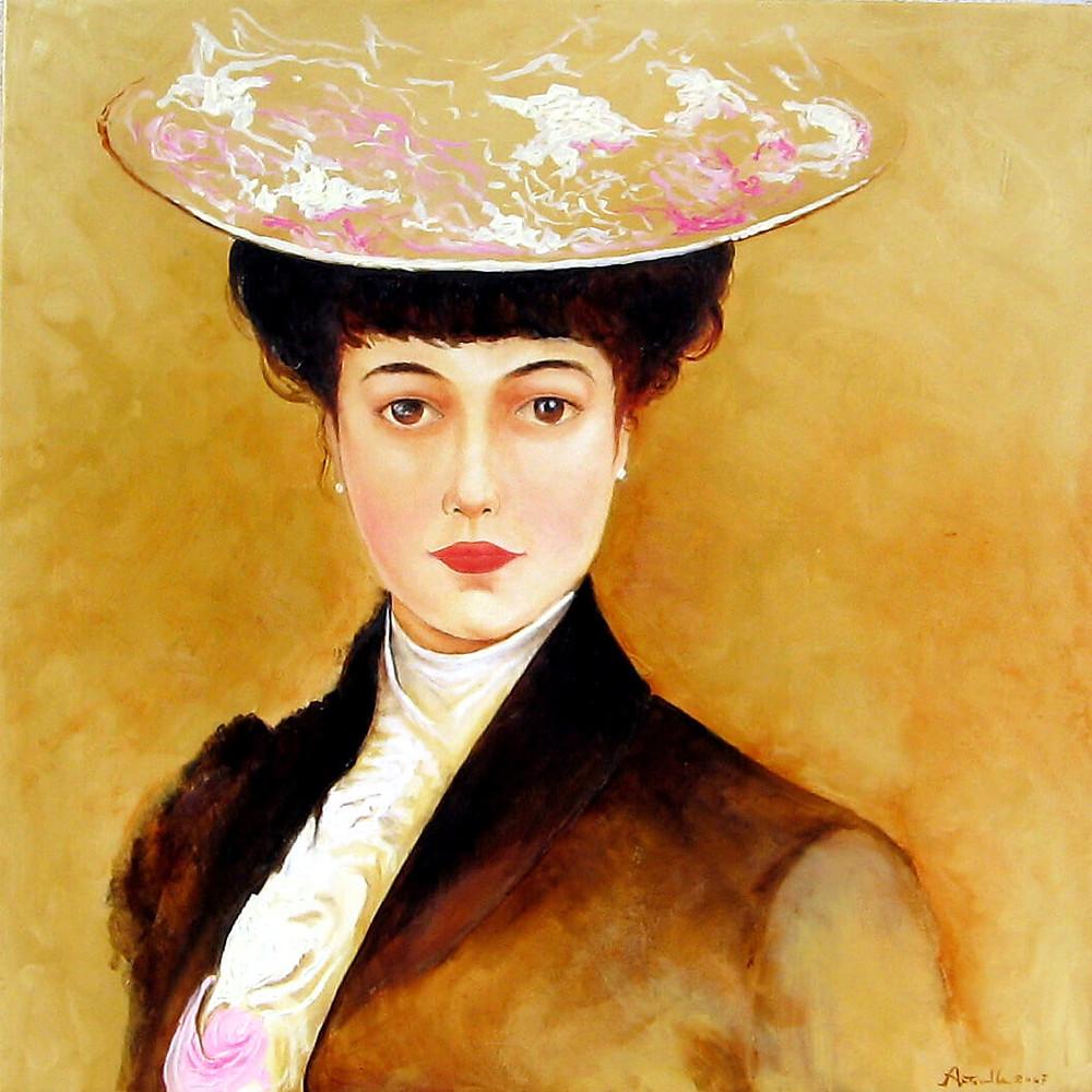 copia d'autore donna ottocentesca Pietro Scoppetta ArtAndFashion by Sportelli