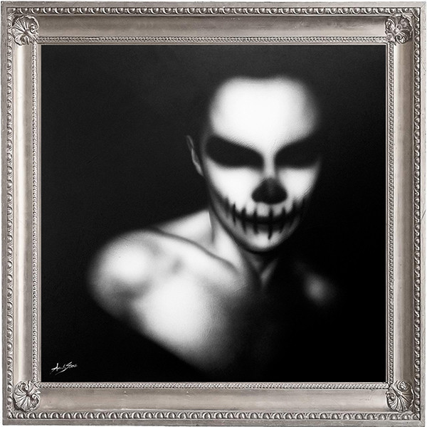 quadro moderno black and white, dipinto dark