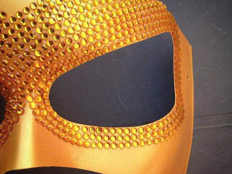 Mascherina Sexy Oro