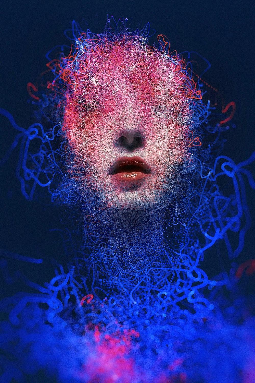 Federico Bebber ritratto femminile di arte digitale