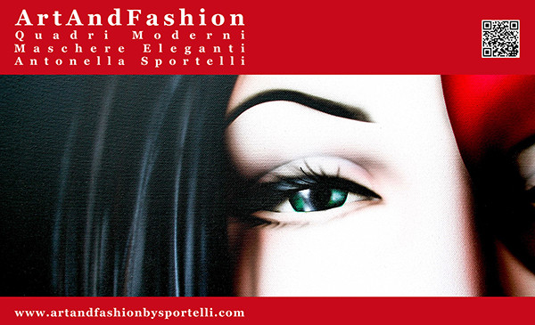 homepage del sito Quadri Moderni Maschere Eleganti ArtAndFashion by Sportelli