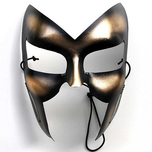 Maschera sexy nero oro taglio aggressivo
