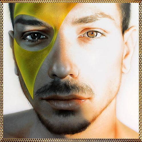 quadro moderno uomo mascherato stampa su tela