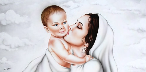 Quadro Sacro Maternità Bacio