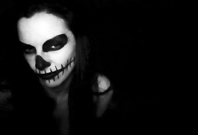 dark girl, photography, black and white