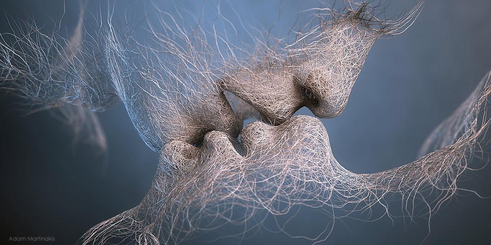 kiss by Adam Martinakis digital art