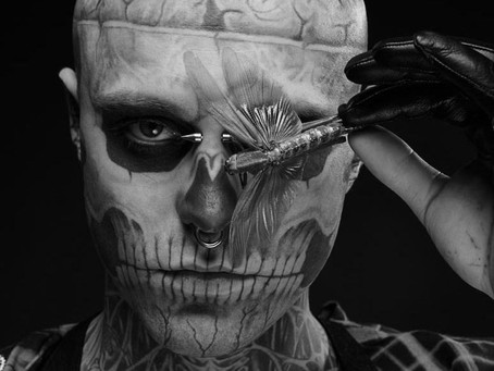 Zombie Boy Tattoo mask