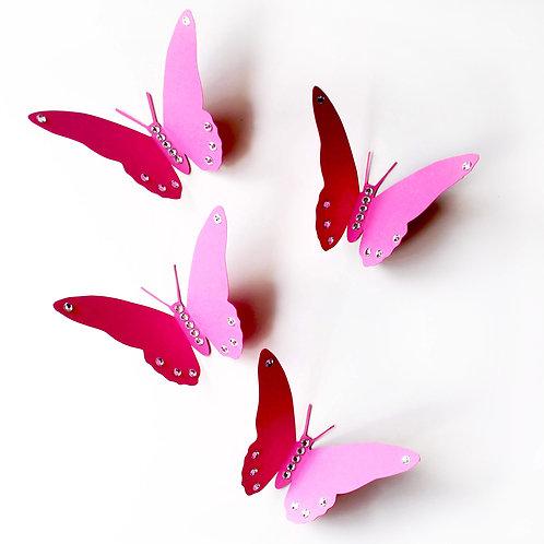 farfalle 3D fucsia