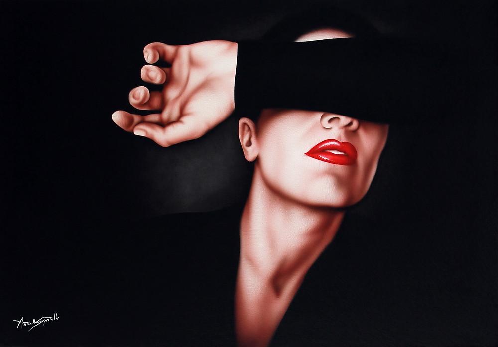 quadro moderno volto di donna